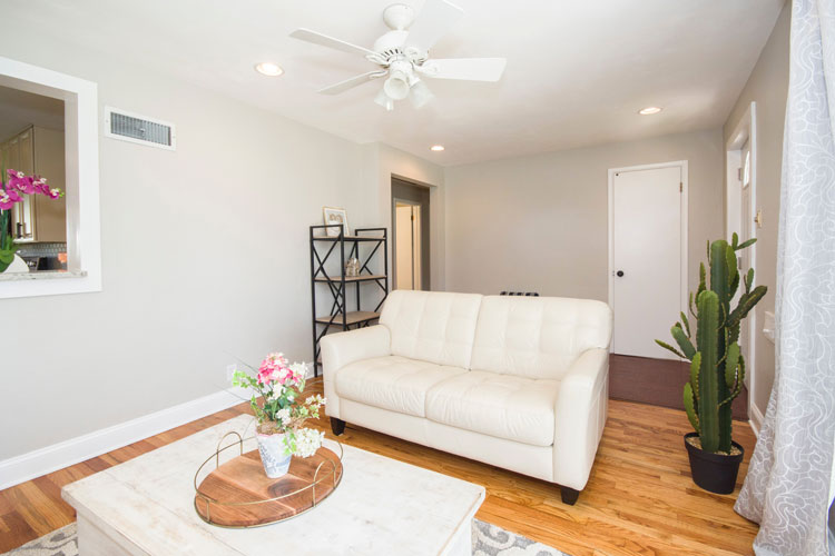 prepare your home for sale living room